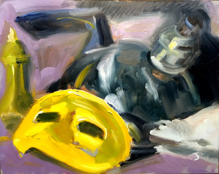 Yellow mask and kettle